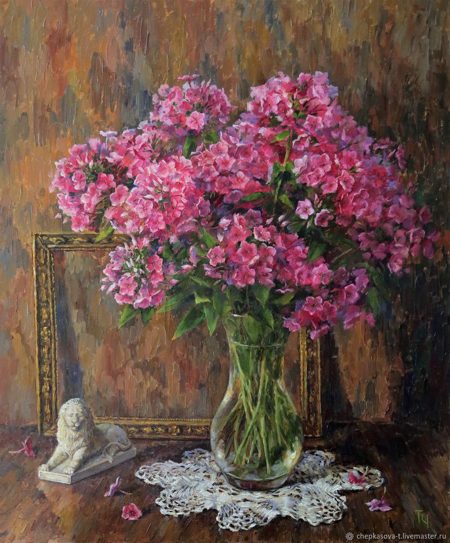 Phlox oil painting buy