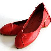 Балетки ручной работы. Ярмарка Мастеров - ручная работа NATIVE. Балетки женские кожаные для дома, офиса, прогулок. Handmade.
