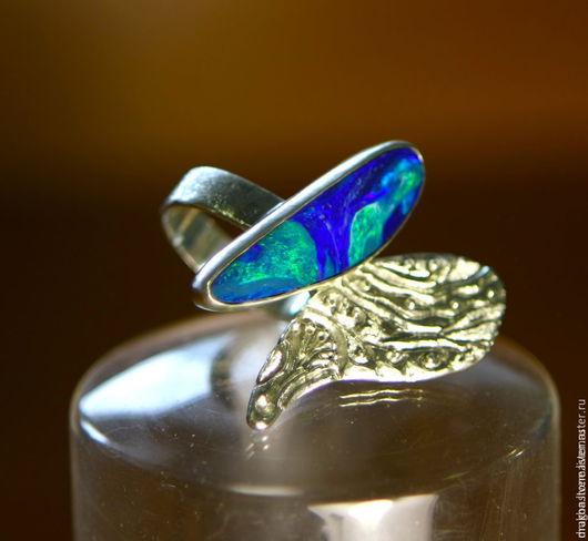 """Кольца ручной работы. Ярмарка Мастеров - ручная работа. Купить Кольцо """"Euselasia"""" с опалом. Handmade. Синий, опал эфиопский"""