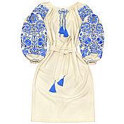 "Dresses handmade. Livemaster - original item Шерстяное платье-вышиванка ""Студеные узоры"". Handmade."