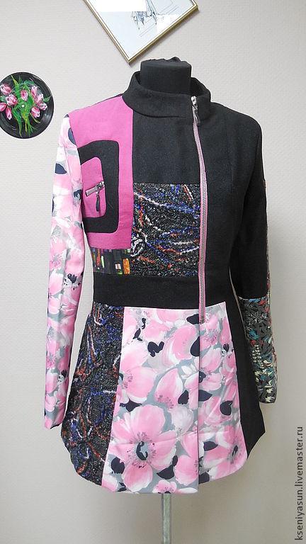 Верхняя одежда ручной работы. Ярмарка Мастеров - ручная работа. Купить Пальто демисезонное Misterio2. Handmade. Абстрактный, пальто демисезонное
