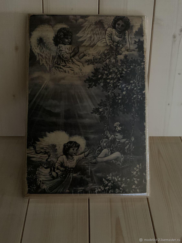 Картина на дереве: Ангелы-Хранители, Фотокартины, Москва,  Фото №1