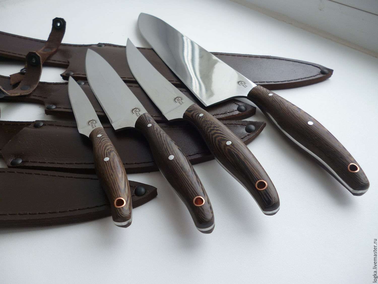 Uncategorized Handmade Kitchen Knives buy the kitchen knives set is made of forged steel silver handmade livemaster forged