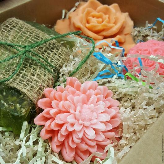 Мыло ручной работы. Ярмарка Мастеров - ручная работа. Купить Цветущий сад бол. (набор мыла подарочный). Handmade.