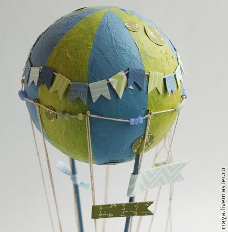 """Открытки на все случаи жизни ручной работы. Ярмарка Мастеров - ручная работа. Купить объемная открытка """"Воздушный шар"""". Handmade. Голубой"""