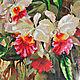 """Картины цветов ручной работы. Ярмарка Мастеров - ручная работа. Купить Картина вышитая бисером""""Дикие орхидеи"""". Handmade. Фуксия"""
