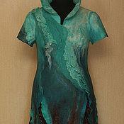 Одежда ручной работы. Ярмарка Мастеров - ручная работа Бирюзовый водопад. Handmade.