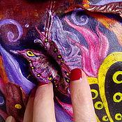 """Сумки и аксессуары handmade. Livemaster - original item Сумка из натуральной кожи """"Невидимый полет"""". Handmade."""