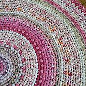 """Для дома и интерьера ручной работы. Ярмарка Мастеров - ручная работа Коврик """"Розовый"""". Handmade."""