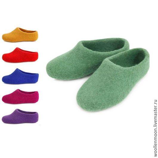 Обувь ручной работы. Ярмарка Мастеров - ручная работа. Купить Тапочки детские разноцветные. Handmade. Комбинированный, войлок ручной работы
