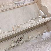 """Для дома и интерьера ручной работы. Ярмарка Мастеров - ручная работа Полка вешалка для кухни """"Нежность роз"""". Handmade."""