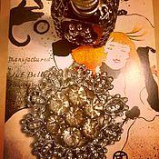 handmade. Livemaster - original item The Nocturnal Temptress... Cocktail Brooch Art Deco. Handmade.
