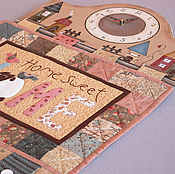 """Для дома и интерьера ручной работы. Ярмарка Мастеров - ручная работа Панно-часы """"Любимый дом"""". Handmade."""
