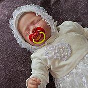 Работы для детей, ручной работы. Ярмарка Мастеров - ручная работа Комплект на выписку  для новорожденного.комплект для девочки.. Handmade.