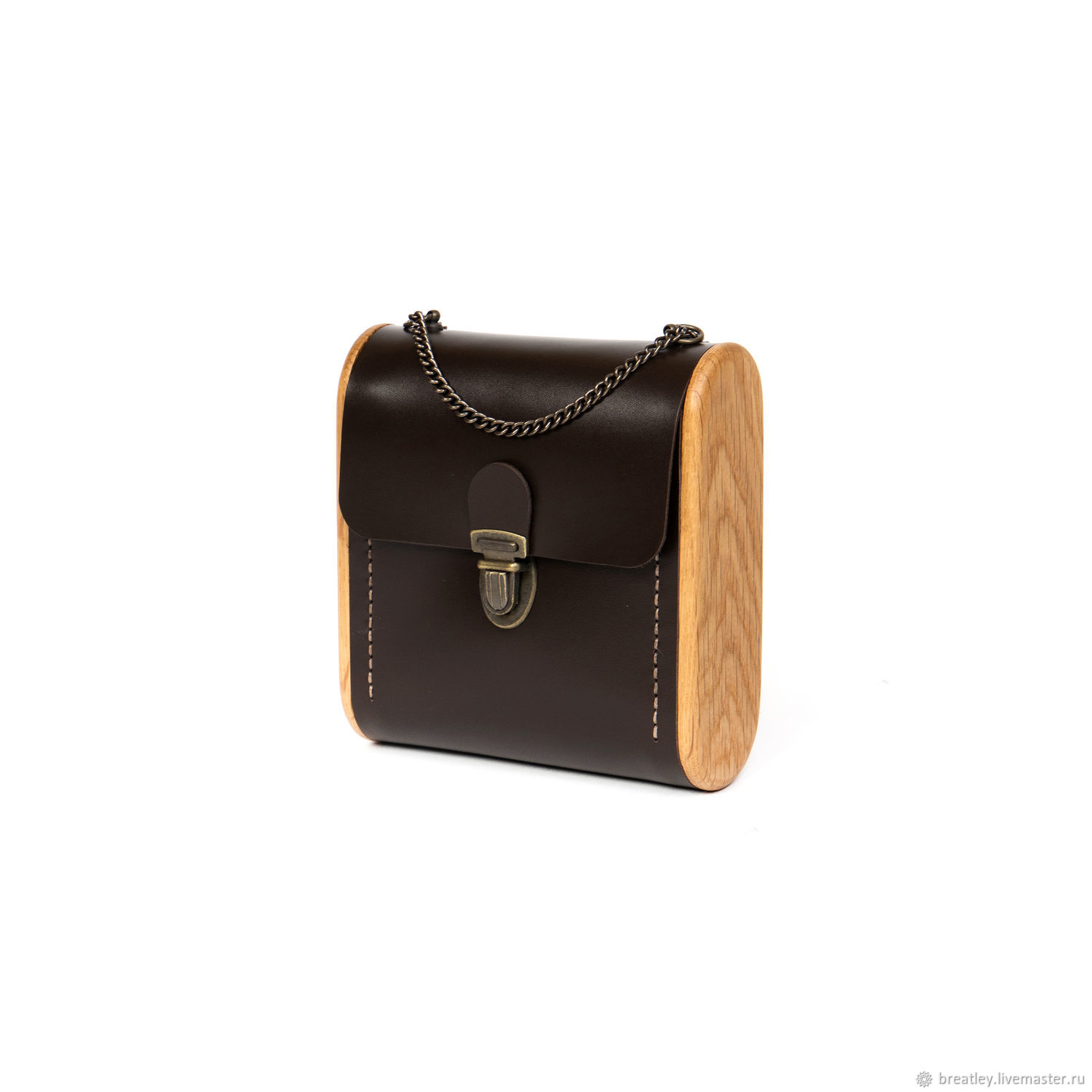 Women's leather crossbody bag-CAPE BRETON-brown handbag, Crossbody bag, Moscow,  Фото №1
