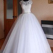 Свадебный салон ручной работы. Ярмарка Мастеров - ручная работа Шикарное  свадебное платье кружевом 3D. Handmade.