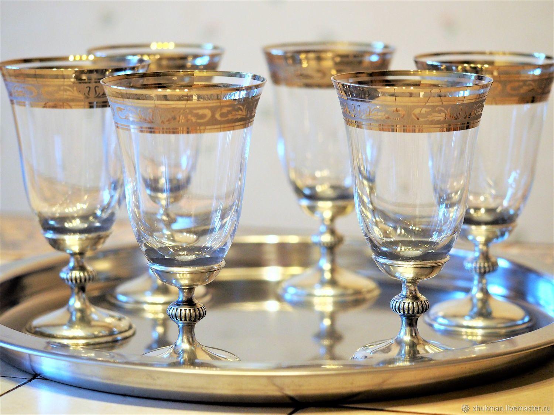"Набор ""АМПИР БОГЕМИЯ-250""  6 бокалов для вина, Wine Glasses, Zhukovsky,  Фото №1"