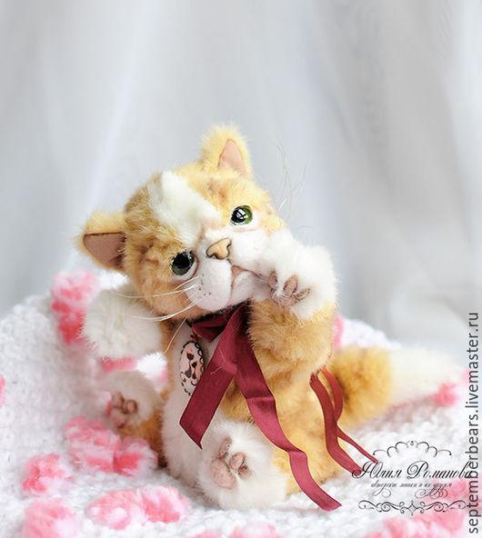 Мишки Тедди ручной работы. Ярмарка Мастеров - ручная работа. Купить кошечка Селин. котёнок экзот. Handmade. Бежевый
