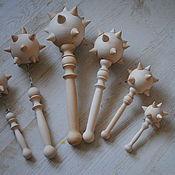 Куклы и игрушки ручной работы. Ярмарка Мастеров - ручная работа Булава деревянная. Handmade.