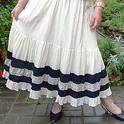 Одежда ручной работы. Ярмарка Мастеров - ручная работа Летняя юбка сливочного цвета. Handmade.