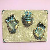 Картины и панно handmade. Livemaster - original item Frozen in the wall Through the wall Immured Hands out of the wall. Handmade.