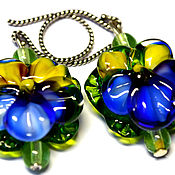Украшения handmade. Livemaster - original item Earrings Oh ,these eyes in the technique of lampwork.. Handmade.