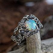 Украшения handmade. Livemaster - original item Men`s silver ring with opal