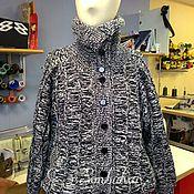 Одежда ручной работы. Ярмарка Мастеров - ручная работа Вязаная куртка из 100% шерсти. Handmade.