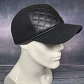 Аксессуары handmade. Livemaster - original item Men`s demi-season baseball cap. Handmade.