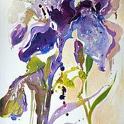 Картины и панно handmade. Livemaster - original item Painting with iris-Lilac Iris. Handmade.