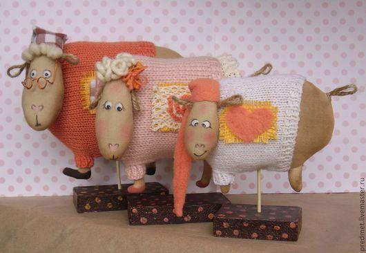 Ароматизированные куклы ручной работы. Ярмарка Мастеров - ручная работа. Купить Раз -  овечка, два - овечка.... Handmade. Семейка, корица