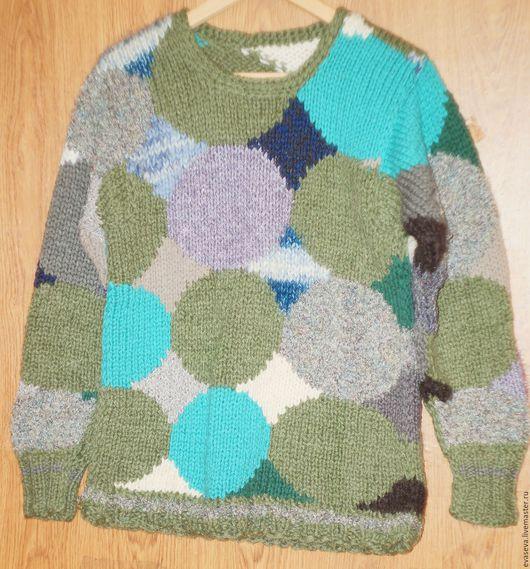 Кофты и свитера ручной работы. Ярмарка Мастеров - ручная работа. Купить Джемпер. Handmade. Комбинированный, абстрактный, пэчворк, джемпер