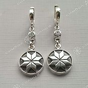 Русский стиль handmade. Livemaster - original item Alatyr No. №1 Earrings. Handmade.