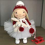 Куклы и игрушки ручной работы. Ярмарка Мастеров - ручная работа Интерьерная текстильная кукла Новый год. Handmade.