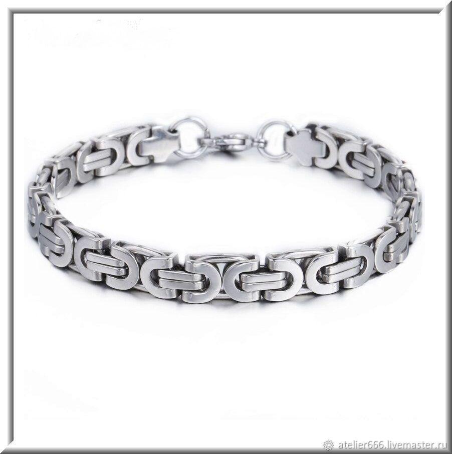 Men's steel bracelet no. 23 stainless steel 316L, Regaliz bracelet, Moscow,  Фото №1