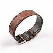 Украшения handmade. Livemaster - original item Brown Solid Genuine Leather Strap. Handmade.