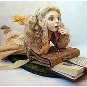 """Куклы и игрушки ручной работы. Ярмарка Мастеров - ручная работа фарфоровая кукла """"Внеклассное чтение"""". Handmade."""