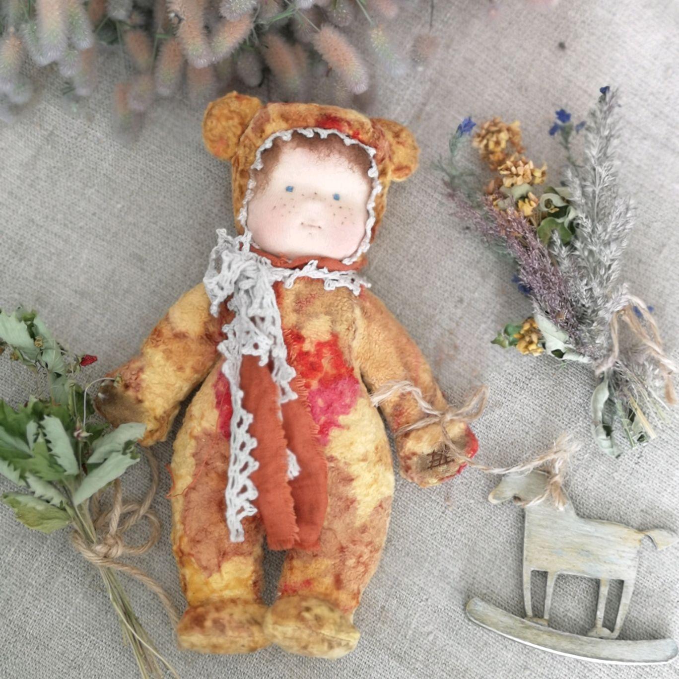 Винтажный мишка тедди-долл, Коллекционные куклы, Выборг, Фото №1