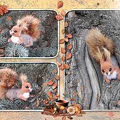 Куклы и игрушки handmade. Livemaster - original item felt toy: Brooch squirrel. Handmade.