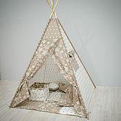 Текстиль ручной работы. Ярмарка Мастеров - ручная работа Вигвам для детей коричневый. Handmade.