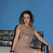 Одежда ручной работы. Ярмарка Мастеров - ручная работа платье вязаное ЭЛИЗАБЕТ. Handmade.