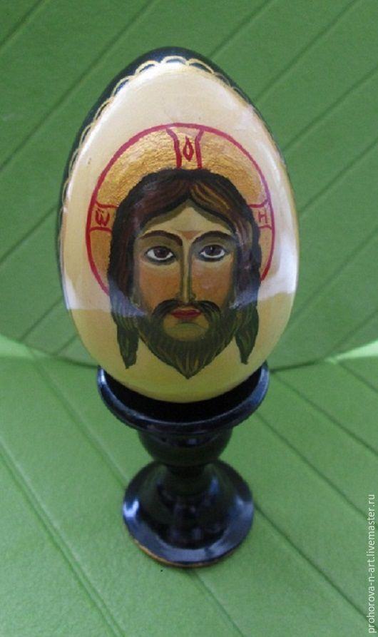 Подарки на Пасху ручной работы. Ярмарка Мастеров - ручная работа. Купить Пасхальное яйцо с ликом. Handmade. Комбинированный, подарок к Пасхе