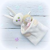 Подарки к праздникам ручной работы. Ярмарка Мастеров - ручная работа Упаковка для новогодних подарков – зайчик. Handmade.