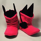 Обувь ручной работы handmade. Livemaster - original item Home ugg boots Devils. Handmade.