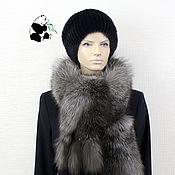 Аксессуары handmade. Livemaster - original item Chic fur scarf boa fur black-brown Fox.. Handmade.