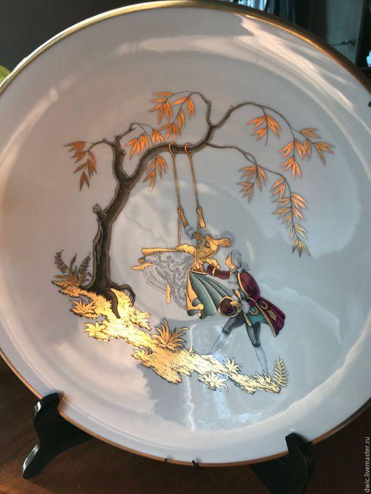 """Винтажные предметы интерьера. Ярмарка Мастеров - ручная работа. Купить Настенная тарелка """"На качелях"""", Австрия. Handmade. Тарелка на стену"""
