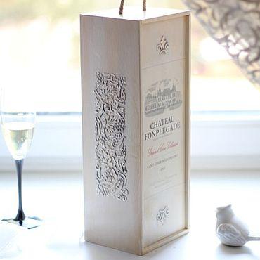 Для дома и интерьера ручной работы. Ярмарка Мастеров - ручная работа Короб винный Вина Франции. Handmade.