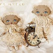 Куклы и игрушки ручной работы. Ярмарка Мастеров - ручная работа Винтажные Ангелы Юджин и Юджиния. Handmade.