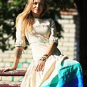 Одежда ручной работы. Ярмарка Мастеров - ручная работа Платье сливочного цвета. Handmade.
