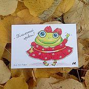 Открытки handmade. Livemaster - original item Postcard for postcrossing